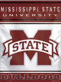 Mississippi State University Vertical Flag