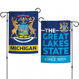 State of Michigan Two-Sided Garden Flag