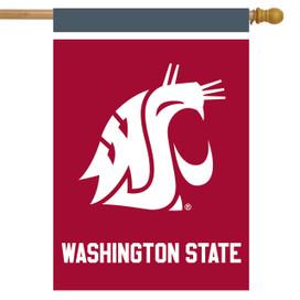 Washington State Cougars NCAA House Flag