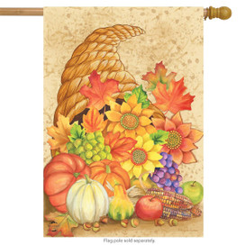Fall Bounty Cornucopia House Flag