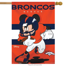 Denver Broncos NFL Mickey Mouse Football House Flag
