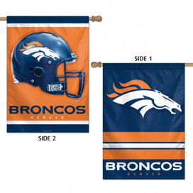 Denver Broncos 2 Sided NFL Vertical House Flag