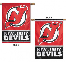 New Jersey Devils Vertical 2 Sided House Flag