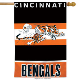 Cincinnati Bengals Retro Vertical NFL House Flag