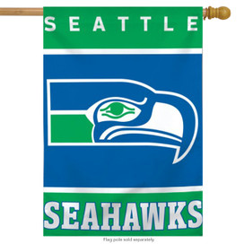 Seattle Seahawks Throwback Vertical Flag