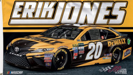 Erik Jones # 20 NASCAR Deluxe Grommet Flag