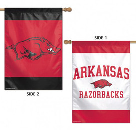 University of Arkansas Razorbacks 2 Sided NCAA House Flag