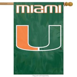 University of Miami Applique Banner Flag