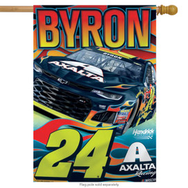 William Byron #24 Vertical House Flag