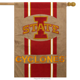 Iowa State University Burlap House Flag