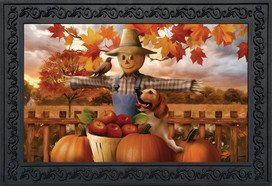 Autumn Scarecrow Harvest Doormat