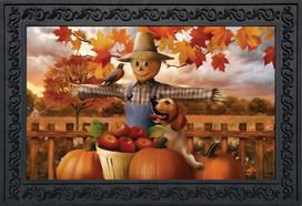 Autumn Scarecrow Harvest Doormat