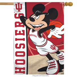 Indiana University Hoosiers NCAA Mickey Mouse House Flag