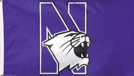 Northwestern University Wildcats Deluxe Grommet Flag