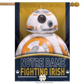 Notre Dame NCAA Star Wars Vertical House Flag