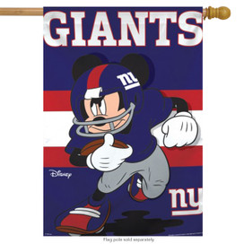 New York Giants NFL Mickey Mouse Football House Flag