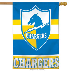 Los Angeles Chargers Retro Vertical NFL House Flag