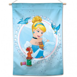 Cinderella with Mice and Birds House Flag