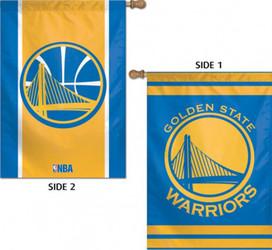 Golden State Warriors 2 Sided NBA Vertical House Flag