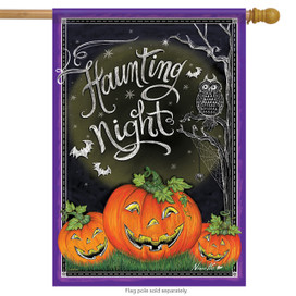 Haunting Night Halloween House Flag
