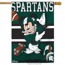 Michigan State University Spartans NCAA Mickey Mouse House Flag