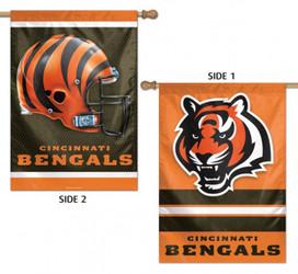 Cincinnati Bengals 2 Sided NFL Vertical House Flag