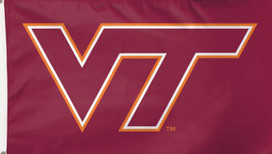 Virginia Tech NCAA HokieBird Deluxe Grommet Flag