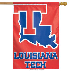 Louisiana Tech University NCAA Vertical House Flag