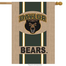 Baylor Bears Burlap Licensed NCAA House Flag