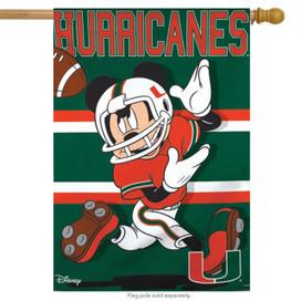 University of Miami Hurricanes NCAA Mickey Mouse House Flag