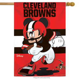 Cleveland Browns NFL Mickey Mouse Football House Flag