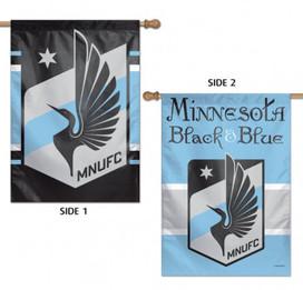 Minnesota Black & Blue Double Sided MLS House Flag