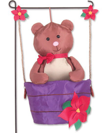 Teddy in a Tub Garden Charm