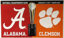 University of Alabama & Clemson NCAA House Divided Grommet Flag