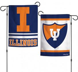 Illinois University NCAA Garden Flag