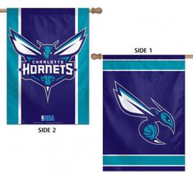 Charlotte Hornets 2 Sided NBA Vertical House Flag