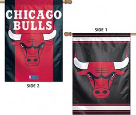 Chicago Bulls 2 Sided NBA Vertical House Flag Licensed Basketball