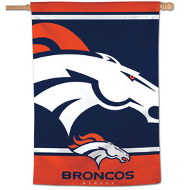 Denver Broncos NFL Vertical Flag