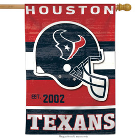 Houston Texans Vertical NFL House Flag