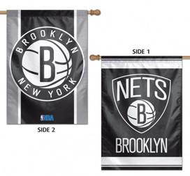 Brooklyn Nets 2 Sided NBA Vertical House Flag