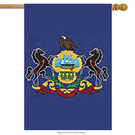 State of Pennsylvania Applique House Flag