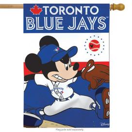 Toronto Blue Jays MLB Mickey Mouse Baseball House Flag