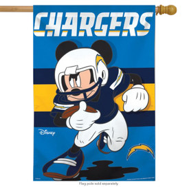 Los Angeles Chargers NFL Mickey Mouse Football House Flag