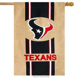 Houston Texans Burlap NFL Licensed House Flag