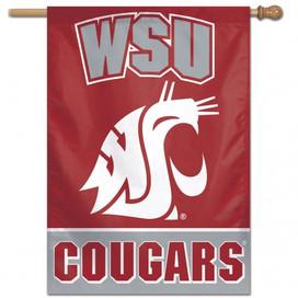 Washington State University Vertical Flag