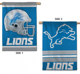 Detroit Lions 2 Sided House Flag