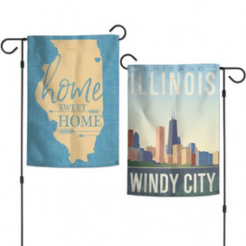 Chicago Illinois Two-Sided Garden Flag