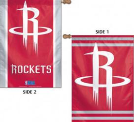 Houston Rockets 2 Sided NBA Vertical House Flag