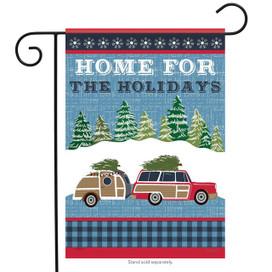 Home For The Holidays Christmas Garden Flag