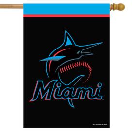 Miami Marlins MLB Licensed House Flag